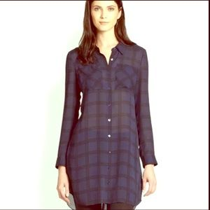 100 % Silk (the Fisher project) Tunic Dress Med